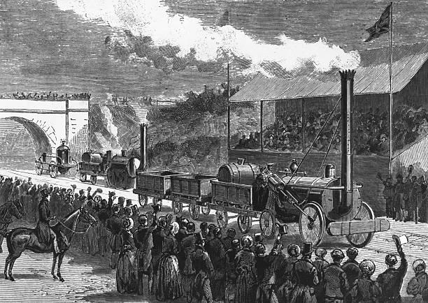 English railway engineer George Stephenson's locomotive...