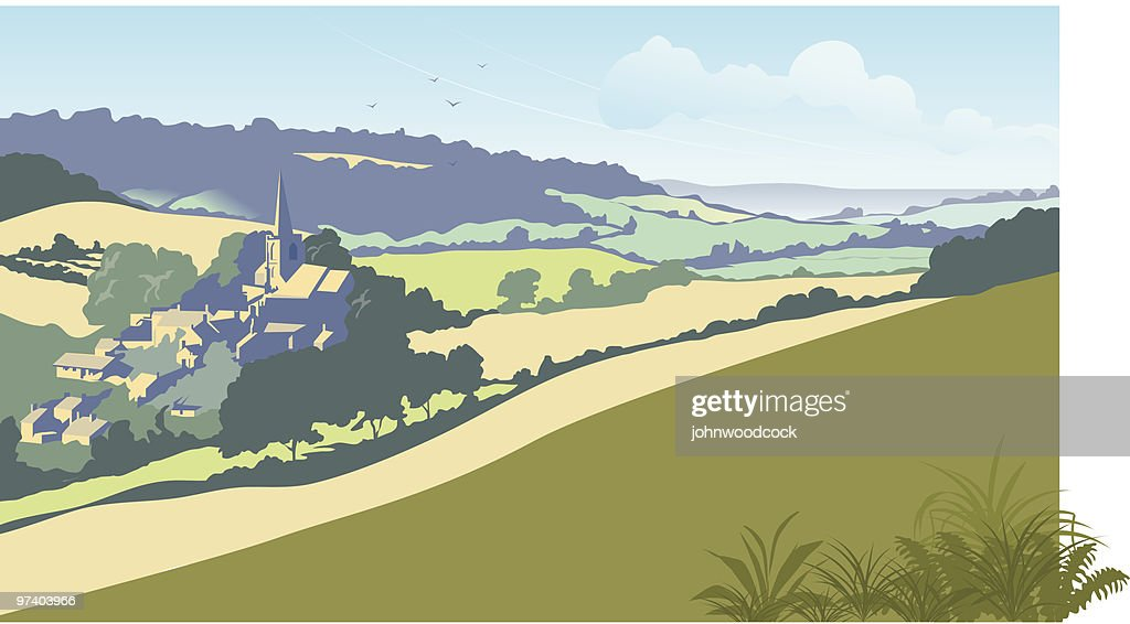 English summer landscape