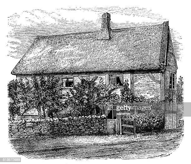 English thatched country cottage