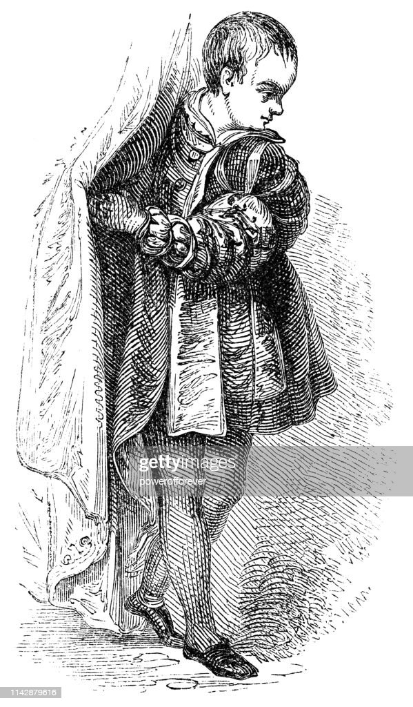 English/French Boy's Fashion of the Early 17th Century : stock illustration