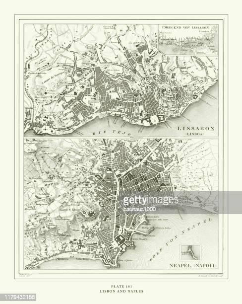 彫刻アンティーク、リスボンとナポリ彫刻アンティークイラスト、1851年発行 - カンパニア州点のイラスト素材/クリップアート素材/マンガ素材/アイコン素材