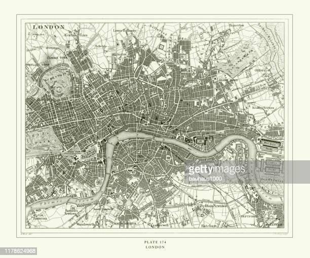 彫刻アンティーク、ロンドン彫刻アンティークイラスト、1851年発行 - テムズ川点のイラスト素材/クリップアート素材/マンガ素材/アイコン素材