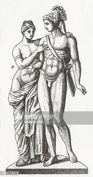 Imagem Gravada de Afrodite e Ares