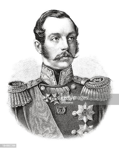 engraving emperor alexander ii of russia from 1882 - helsinki stock illustrations, clip art, cartoons, & icons