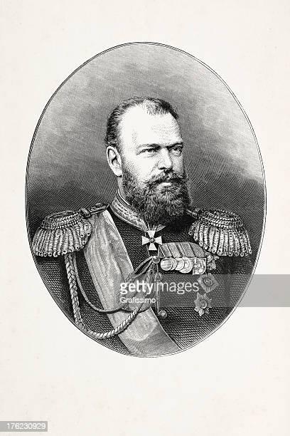 ilustrações, clipart, desenhos animados e ícones de entalhes imperador alexander iii - cultura russa