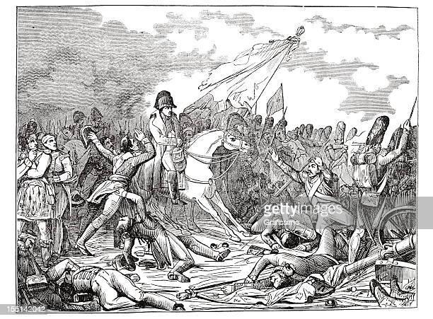 illustrations, cliparts, dessins animés et icônes de gravure empereur napoléon de bataille de waterloo 1835 - guerres napoléoniennes