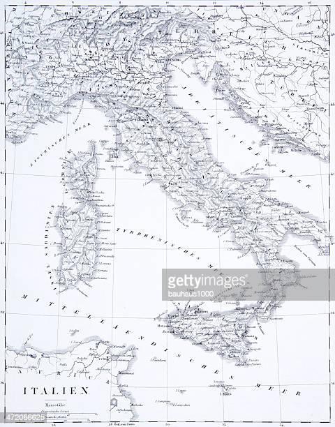 engraving: italy - sardinia stock illustrations, clip art, cartoons, & icons