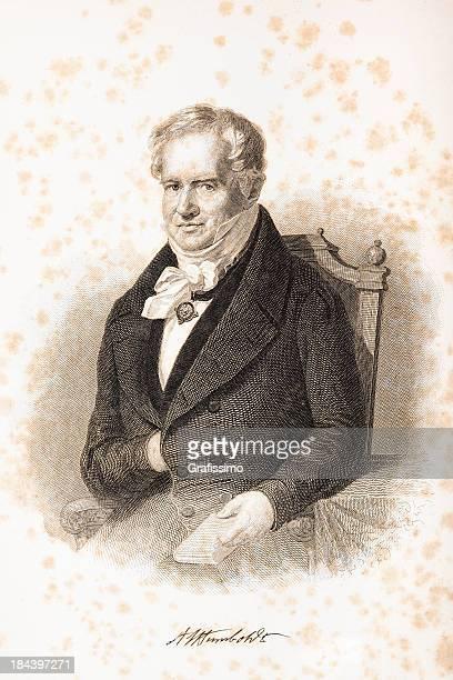 Grabado de alemán explorer Alexander von Humboldt en 1876