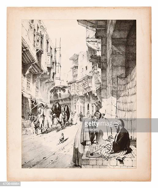 Engraving of Istanbul, Street view