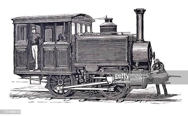 engraving of locomotive in new york 1879 - 1870 1879 stock illustrations