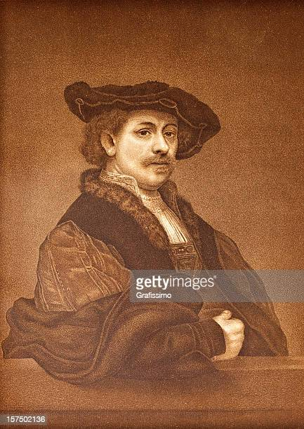 Engraving of Rembrandt van Rijn