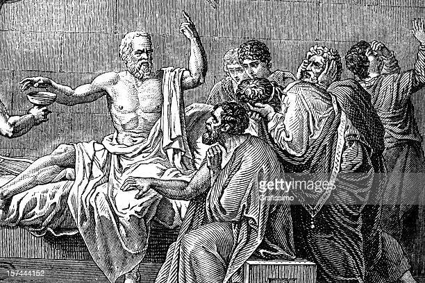 Engraving of Socrates death from 1876