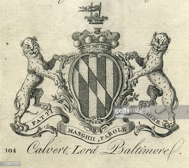 Coat of Arms Calvert Lord Baltimore 18th century