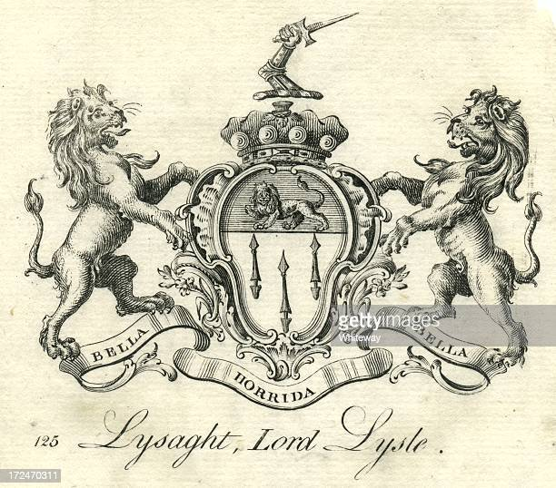Coat of arms Lysaght, Lord Lysle Lisle 18th century