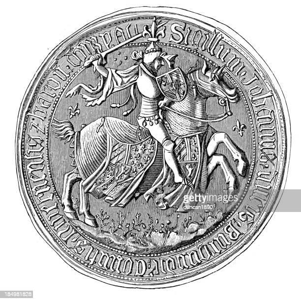 ilustrações, clipart, desenhos animados e ícones de entalhes de colônia de jean duque de bourgogne - great seal