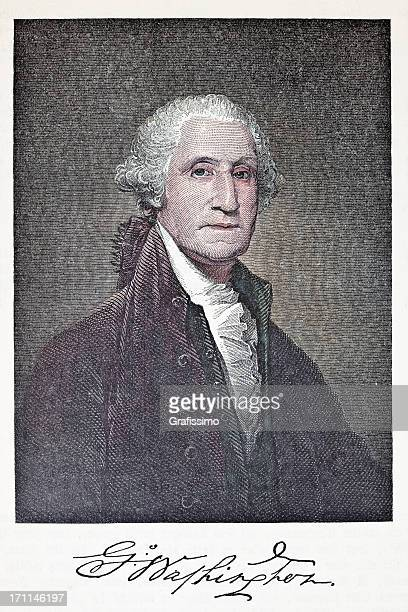 Engraving of US president George Washington