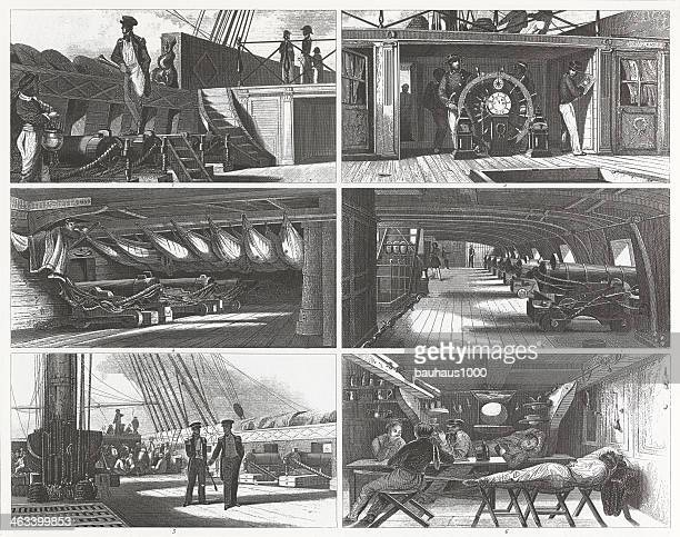 Engraving: Shipboard Life