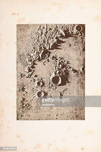 Gravação Superfície da Lua Arquimedes crater