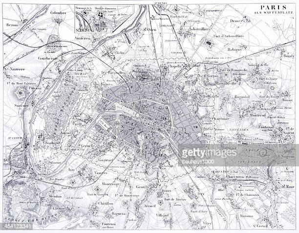 Engraving: The Fortifications of Paris
