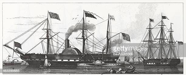 Engraving: The Washington Steamship