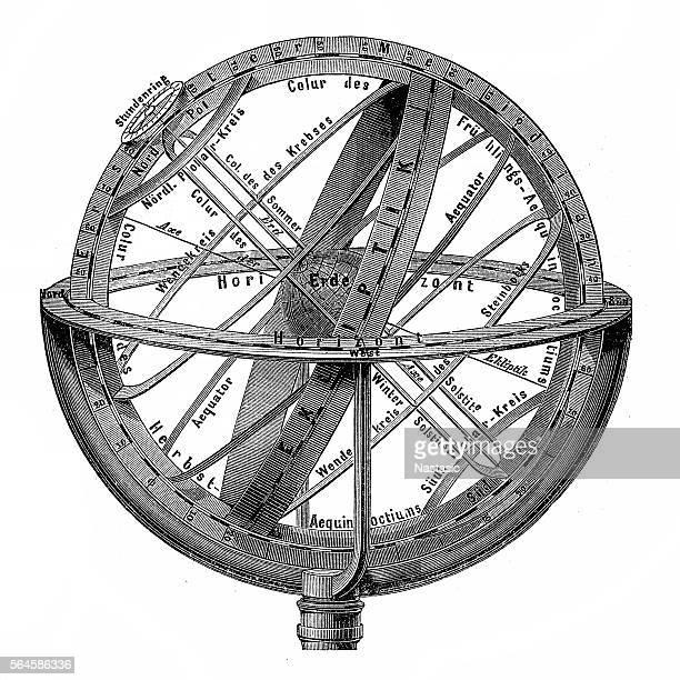 illustrations, cliparts, dessins animés et icônes de engraving vintage planetarium - constellation