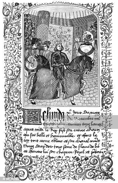 entry of charles vii into rouen - rouen stock illustrations, clip art, cartoons, & icons