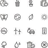 Environment and Recycling Icons