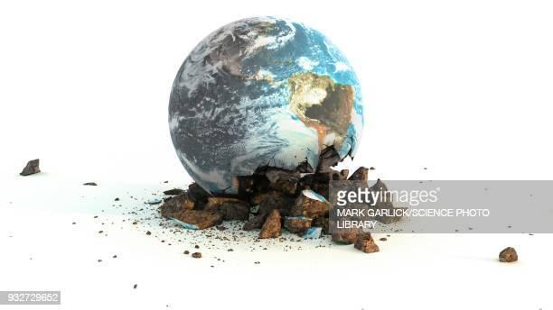 Environmental damage, conceptual illustration
