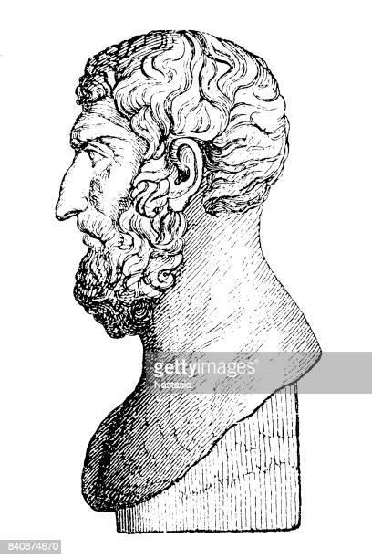 ilustraciones, imágenes clip art, dibujos animados e iconos de stock de epicuro, un filósofo griego - filosofos griegos
