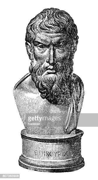 ilustraciones, imágenes clip art, dibujos animados e iconos de stock de epicuro (c.341-271/270 a.c.), filósofo griego - filosofos griegos