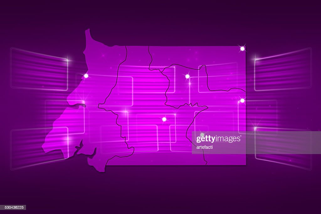 Equatorial Guinea Map World Map News Communication Purple Stock ...