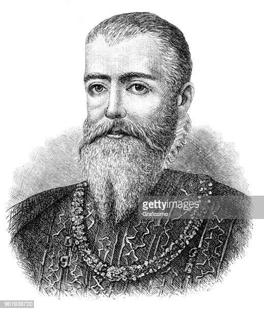Eric XIV King of Sweden portrait illustration 1882