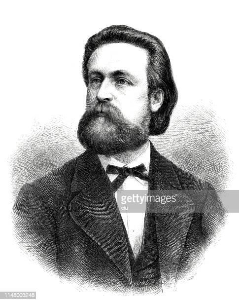 ernst scherenberg, german poet, 1839-1905 - 1905 stock illustrations, clip art, cartoons, & icons