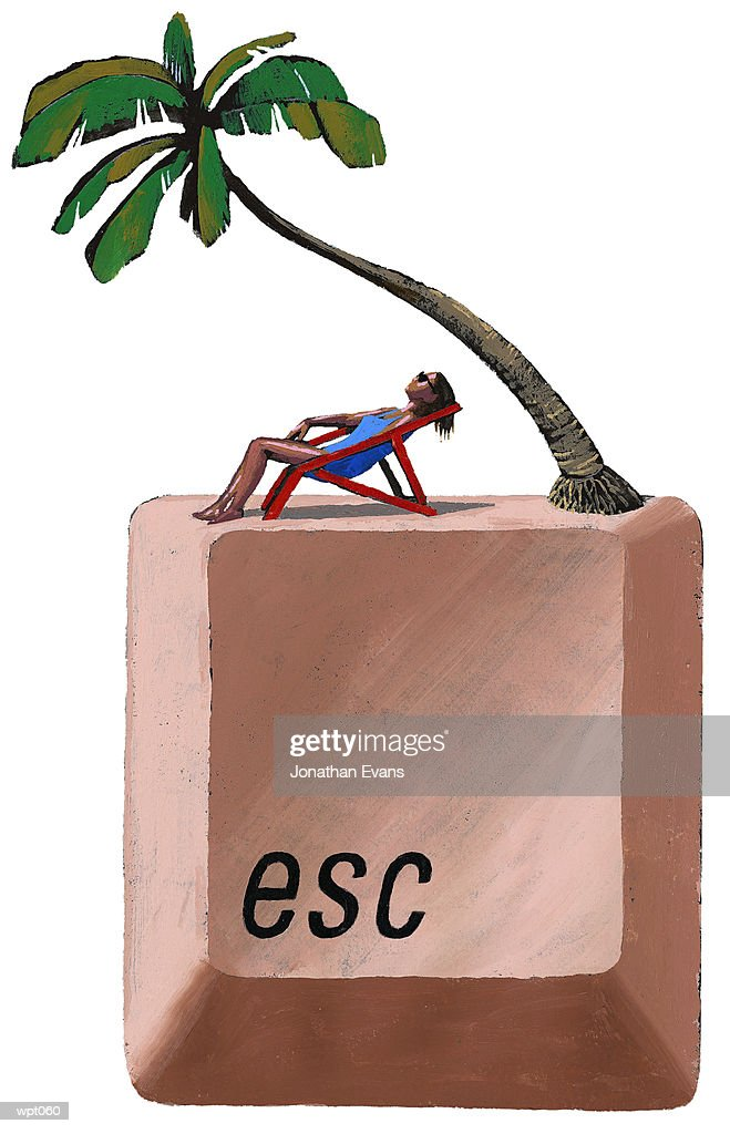 Escape Key : Stock Illustration