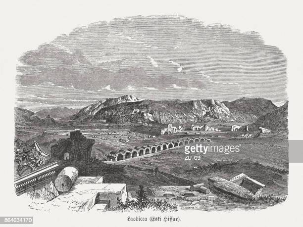 Eskihisar (Turkey), formerly ancient Laodicea (Lycus), wood engraving, published 1886
