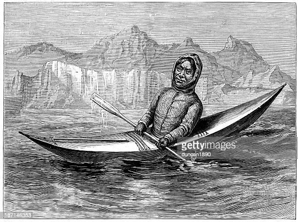 Eskimo in his kayak