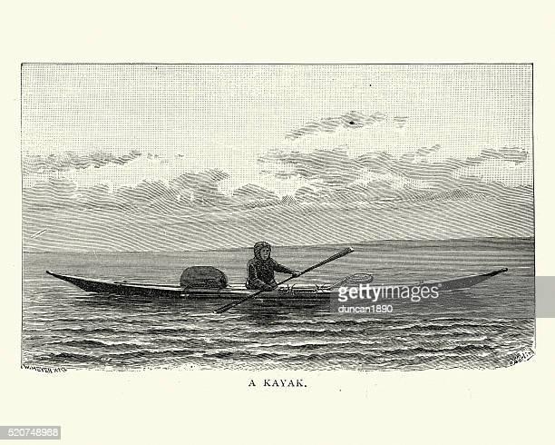 Eskimo kayak, 19th Century