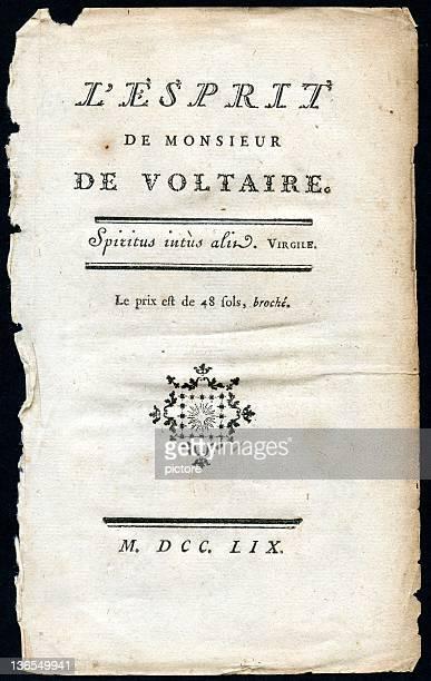 L'esprit de Monsieur De VOLTAIRE  (XXXL)