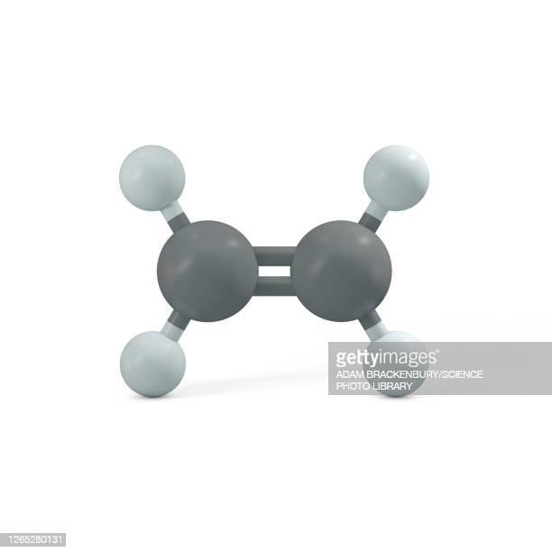 ethene molecule, illustration - hydrocarbon stock illustrations