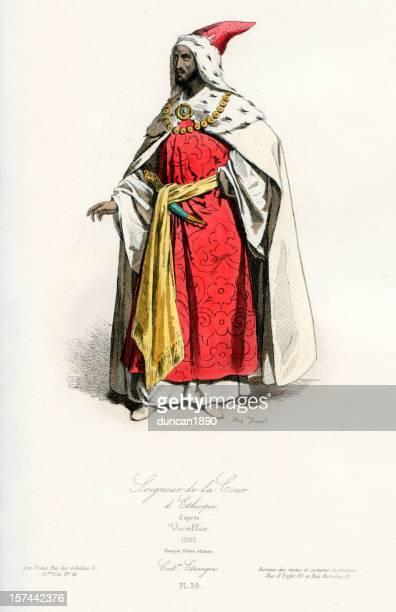 ethiopian courtier - ethiopia stock illustrations, clip art, cartoons, & icons