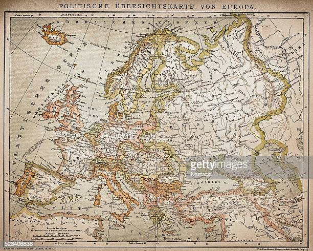 ethnographic map of europe - central europe stock illustrations, clip art, cartoons, & icons