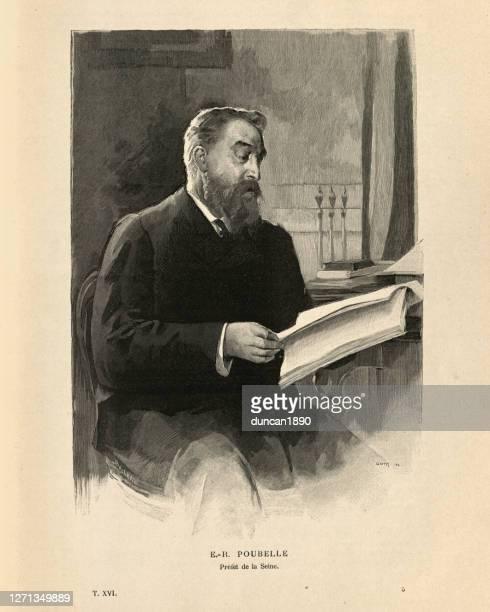 illustrations, cliparts, dessins animés et icônes de eugene-rene poubelle, french lawyer and diplomat, 19th century - ambassadeur rôle social