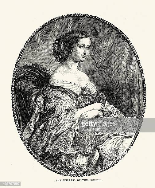 eugenie de montijo empress of the french - empress stock illustrations, clip art, cartoons, & icons