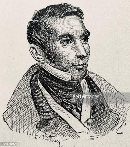 illustrations, cliparts, dessins animés et icônes de eugène scribe, français écrivain, 1791-1861 - culture française