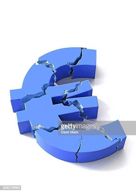 euro crisis, conceptual artwork - european union euro note stock illustrations, clip art, cartoons, & icons