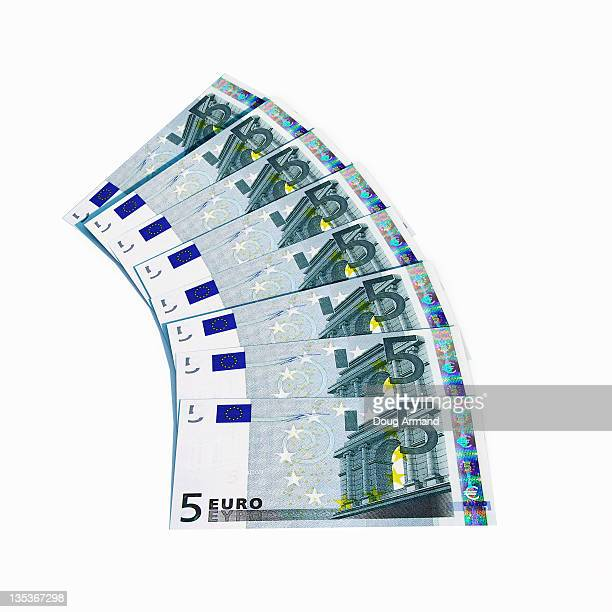 euro notes - european union euro note stock illustrations, clip art, cartoons, & icons