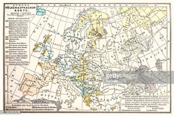 Europa map ,Peoples and languages map 1896
