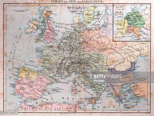 europe at the time of the carolingians - central europe stock illustrations, clip art, cartoons, & icons