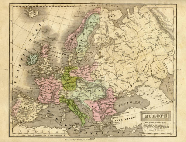 Europe Map 1829 Wall Art