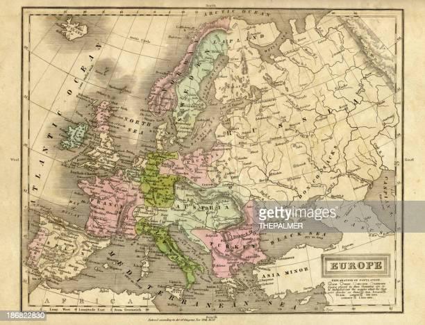 europe map 1829
